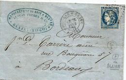 """- HAUTE GARONNE - BOULOGNE S/GESSE - GC.548/N°45 A Type II Rpt 1 = Càd T.17 + BR """"F"""" -1871 - 1870 Bordeaux Printing"""