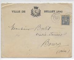 1897 - ENVELOPPE DECOREE De La VILLE De BELLEY (AIN) - Marcofilie (Brieven)