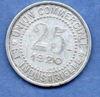 Charlieu   -  25 Centimes 1920  -  état  TTB - Monetary / Of Necessity