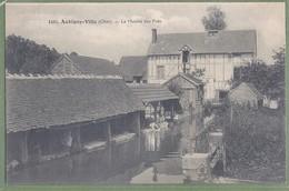 CPA Peu Courante - CHER - AUBIGNY-VILLE - LE MOULIN DES PRÉS - Le Lavoir Animé, Laveuses - A. Auxenfans éditeur /1485 - Aubigny Sur Nere