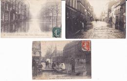 CRUE DE LA SEINE  - LOT DE 6 CARTES - Inondations De 1910
