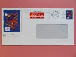 PAP - Entier Postal - Foot Montpellier 98 - Repiquage Midi-Libre - Tampon Montpellier 12.06.98 - Entiers Postaux