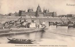 BUDAPEST  -  Dunarészlet Az Uj Orszaghazzal   -  Donaupartie Mit Dem Neuen Parlamente - Hongrie