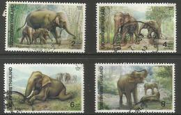 Thailand - 1991 Elephants Used   Sc 1421-4 - Thailand