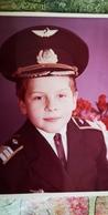 Pilot - Kindergarten - Pretty Boy - Old Original Photo  - Soviet Childhood - Little Boy 1980s - Personnes Anonymes