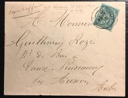 Lettre Papier D'affaires 1879 Sage N°75 Obl 5c Vert N/U Oblitéré Du 25 Décembre 1881...soit Noél !! Jour Férié ... - 1876-1898 Sage (Type II)