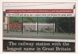 The Railway Station With The Longest Name In Great Britain - Gares - Sans Trains