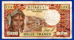 Djibouti  -  1000 Francs  -  état  TB - Djibouti