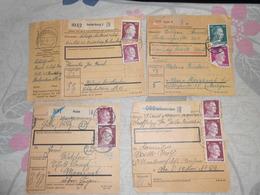 7 Paketkarte Deutschland Vers Moresnet Kelmis De Hude Insterburg Zeithain Brunscappel - Briefe U. Dokumente