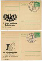 Schach - DDR Meisterschaften 1974 - 1985 - Briefmarken