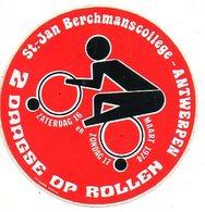 Sticker Autocollant Antwerpen  2-daagse Op Rollen St Jan Berchmanscollege  1974  Sport Reclame Publicite Publicity - Sports