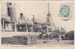 """Nord - Dunkerque - Bassin De Freycinet - Un Vapeur Des """"Chargeurs Réunis"""" En Déchargement - Dunkerque"""