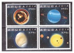Aruba 2014 Astronomie Astronomy Space Jupiter Mercurius Saturn MNH - Curacao, Netherlands Antilles, Aruba