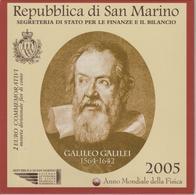 San Marino BU 2005 2 Euro Galileo Galilei Année Int. De La Physique - San Marino