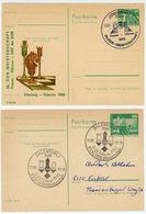 Schach - DDR Großmeisterturniere Sonder Ganzsachen 1982 + 1984 - Briefmarken