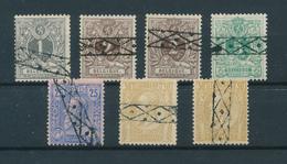 793/27 - Annulation Roulette Sur 7 Timbres Lion Couché Ou Emission 1884 - België