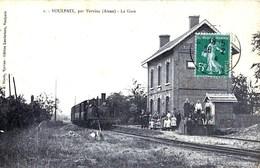 Rare CPA  De VOULPAIX Par Vervins La Gare. Petit Village De L'Aisne - Unclassified