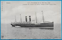 CPA AK ANVERS ANTWERPEN - S.S. KROONLAND De La RED STAR LINE ** Bateau Ship - Antwerpen