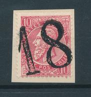 794/27 - Annulation Chiffre De Poste 18 Sur TP 57 Fine Barbe S/ Fragment - 1893-1800 Fijne Baard
