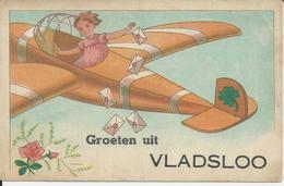 Vladslo  Groeten Uit Vladsloo (zeer Oude Kaart ) - België
