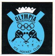 Sticker Autocollant   Nederhorst Oympia Ice Hockey Sport Reclame Publicite Publicity - Sports