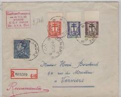 PLIS  RECOMMANDE  DE  WANDRE  POUR VERVIERS  5/3/1942 - Belgique
