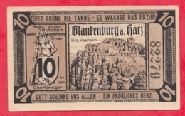 Allemagne 1 Notgel De 10 Pfenning Stadt Flankenburg UNC  N °2153 - Collections