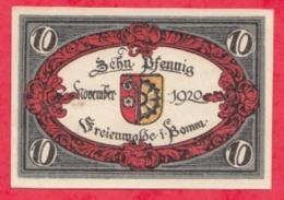 Allemagne 1 Notgel De 10 Pfenning Stadt Freienwalde UNC  N °2164 - [ 3] 1918-1933 : République De Weimar