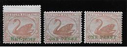 Western Australia N°50/52 - Neuf * Avec Charnière - TB - 1854-1912 Western Australia