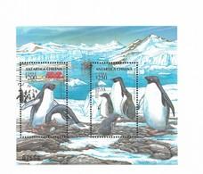 CHILE 1993 CHILEAN ANTARCTIC PENGUINS FAUNA MOUNTAINS SCOTT 1080/81 SS SOUVENIR SHEET MNH - Chile