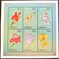 Liberia 1999** Klb.2407-12. Flowers MNH [5;38] - Pflanzen Und Botanik