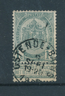 796/27 - Cachet OSTENDE BAINS  Sur TP Armoiries 1 C - 1893-1907 Coat Of Arms