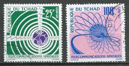 Tchad YT N°86/87 Télécommunications Spatiales Oblitéré ° - Tchad (1960-...)