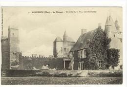 Carte Postale Ancienne Bannegon - Le Château. Un Côté De La Tour Des Oubliettes - France