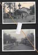 2 REPRODUCTIONS  ALGERIE PERREGAUX ORLEANSVILLE GARE  STATION BAHNHOF TRAIN TREIN - Algeria