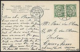 1899 - NEDERLAND - Card - SG 172 + BRUXELLES (ARRIVEE) - Periode 1891-1948 (Wilhelmina)
