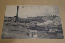 RARE,Courcelles Motte,la Verrerie,Train A Vapeur,locomotive,superbe Carte Originale,ancienne - Courcelles
