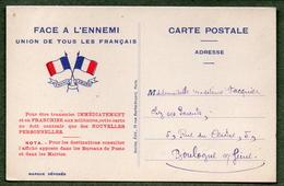 Guerre 14-18 / Carte Postale Franchise Militaire - Guerre 1914-18