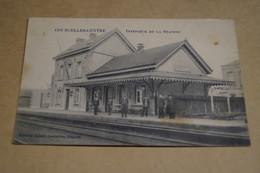 RARE,Courcelles Centre,intérieur De La Station,Gare,Train,superbe Carte Originale,ancienne - Courcelles
