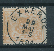 800/27 - Cachet Simple Cercle EXAERDE 1881 Sur TP 28 - COBA 15 EUR - 1869-1888 Liggende Leeuw