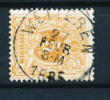 801/27 - Cachet Simple Cercle WETTEREN 1885 Sur TP 28 - COBA 4 EUR - 1869-1888 Liggende Leeuw
