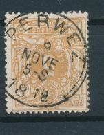 802/27 - Cachet Simple Cercle PERWEZ 1878 Sur TP 28 - COBA 4 EUR - 1869-1888 Liggende Leeuw