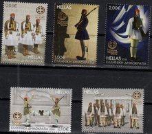 GREECE, 2018, MNH, PRESIDENTIAL GUARD, 150th ANNIVERSARY,  MILITARY, COSTUMES, FLAGS, PARTHENON, 5v - Militaria
