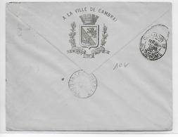 1900 - ENVELOPPE PUB DECOREE Des MOUCHOIRS De CAMBRAI (NORD) - Marcofilie (Brieven)