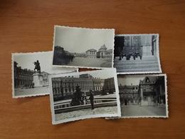 WW2 GUERRE 39 45 VERSAILLES FONTAINE STATUE DRAPEAU FLOTTANT SUR LE CHATEAU - Versailles (Château)