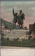 CPA 74 CHAMONIX Militaria Le Monument Saussure - Carte Couleur - Chamonix-Mont-Blanc