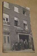 RARE,région De Courcelles,garage,atelier De Réparation,moto,vélo,voiture,superbe Carte Originale,ancienne - Courcelles