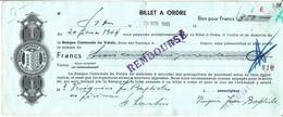 BILLET A ORDRE - BANQUE CANTONALE VALAISANNE - 20.11.1943 - AVEC VIGNETTES AU DOS . - Svizzera