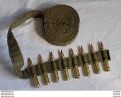 Bande U.S. En Toile Calibre .30 Pour 250 Cartouches En Tres Bon Etat D'origine Pour Mitrailleuse BROWNING - Armes Neutralisées