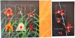 Antigua&Barbuda 2001** Mi.3491-96 + Bl.506. Orchids [5;47] - Orchidées